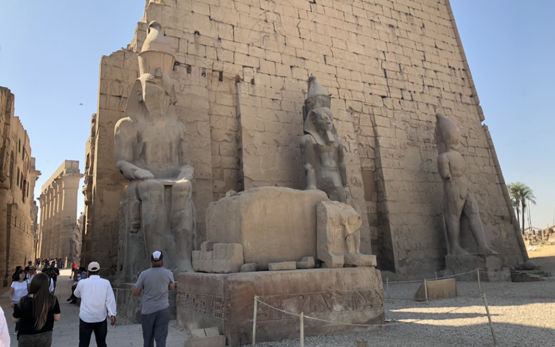 entrance to Karnak Temple in Luxor Egypt
