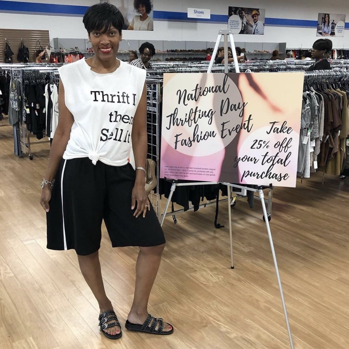 woman posing at Thrifting Atlanta event