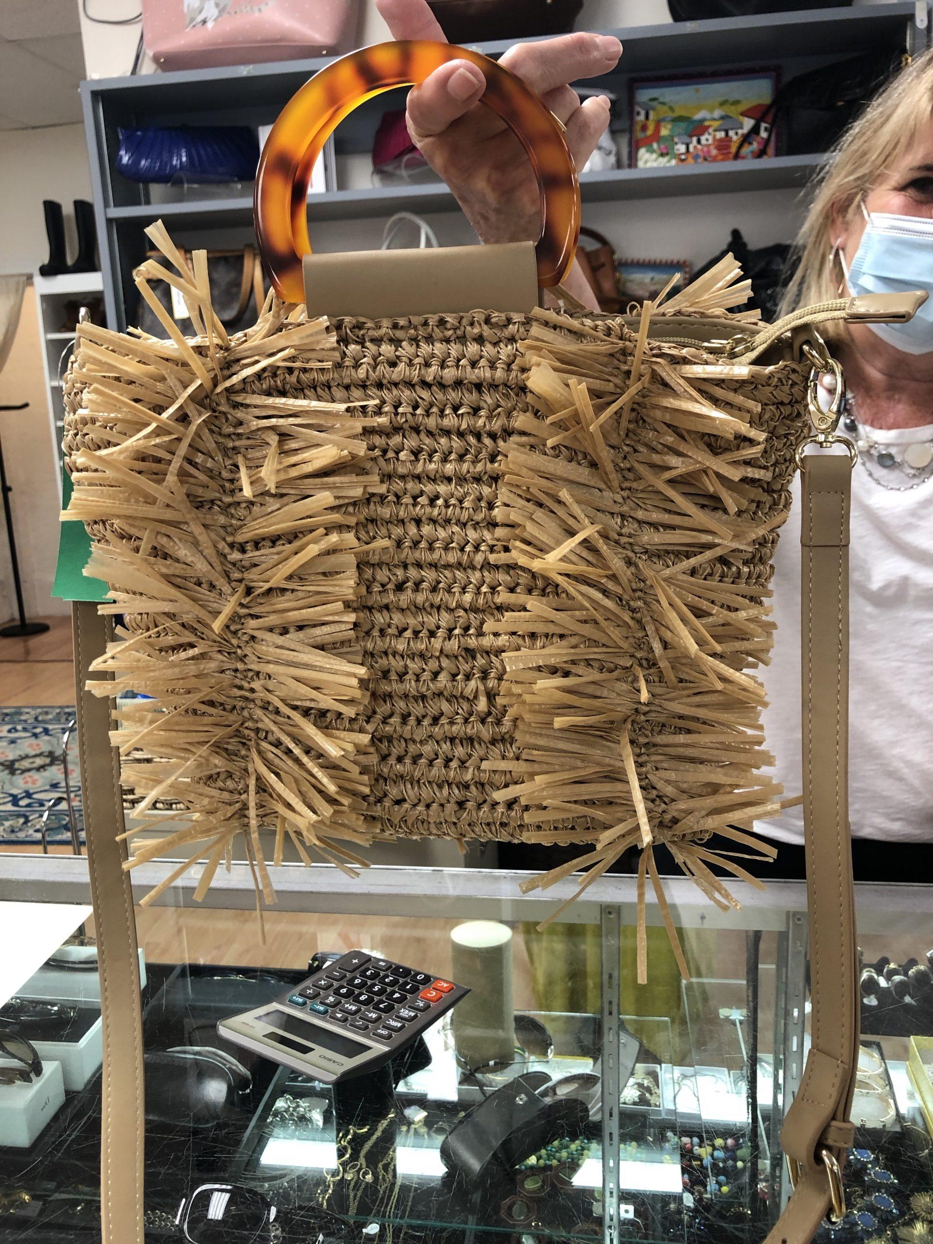 ReDeux unique straw bag