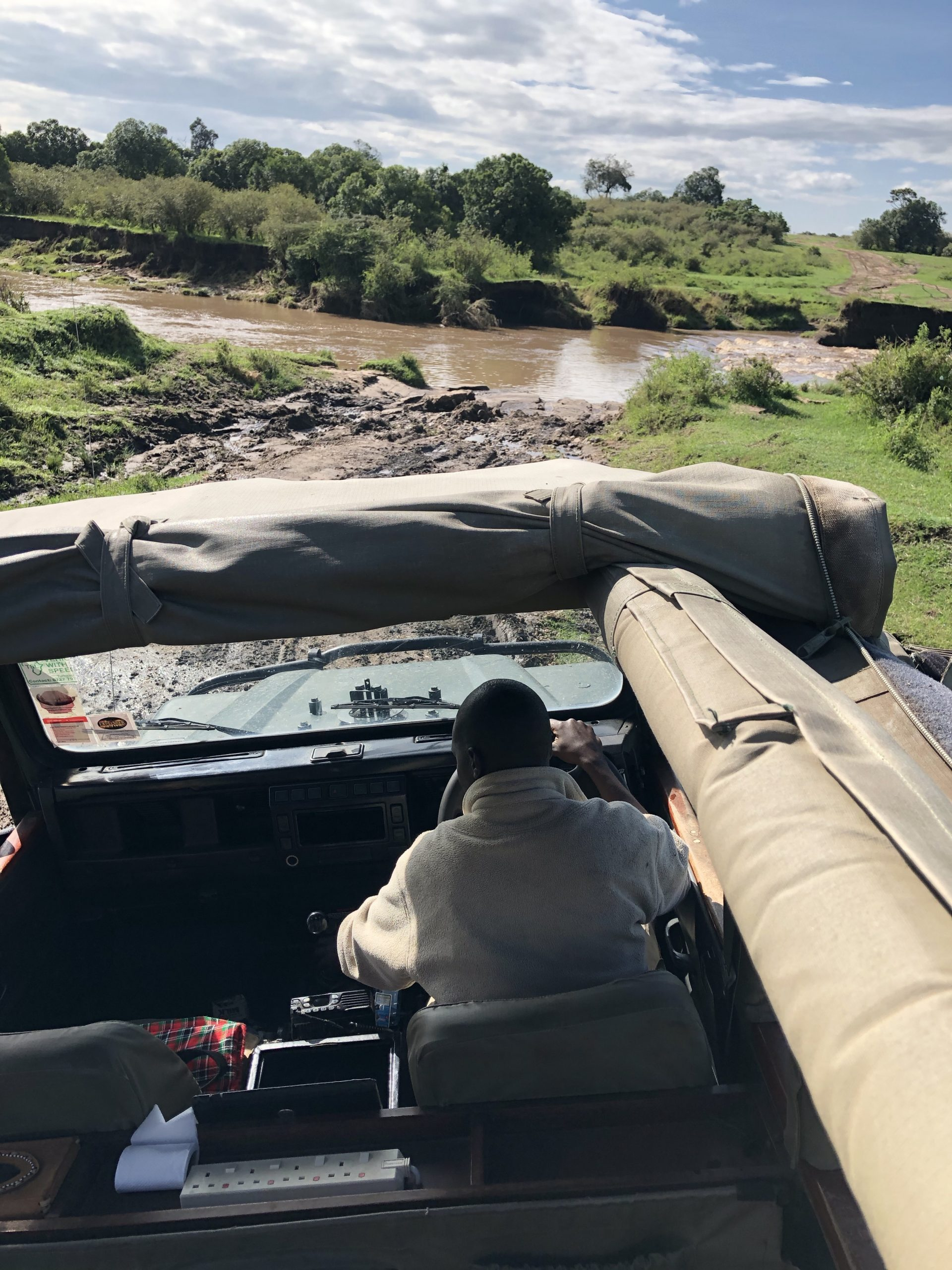 creek view from within Safari jeep