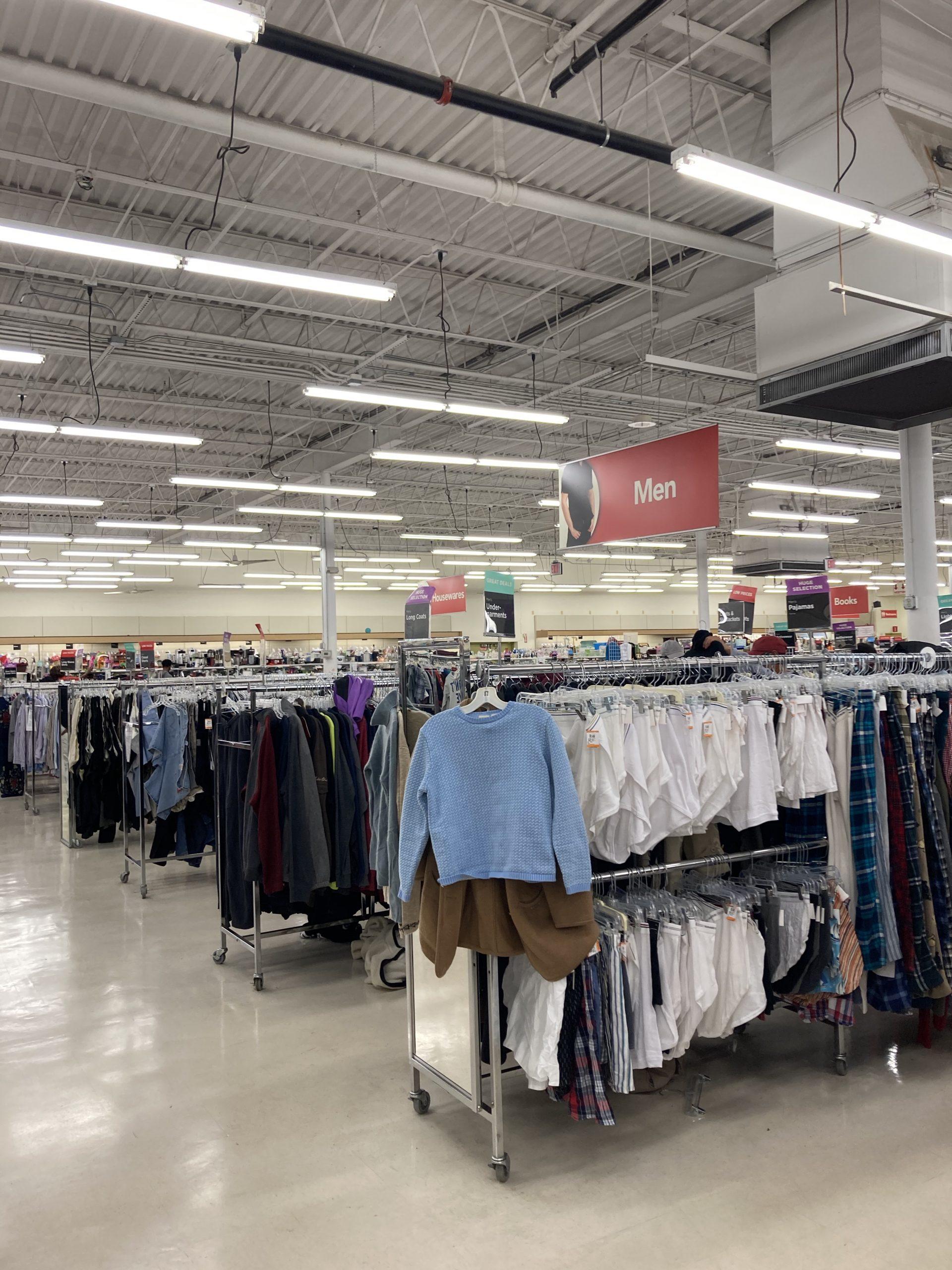 Value Village shirt section