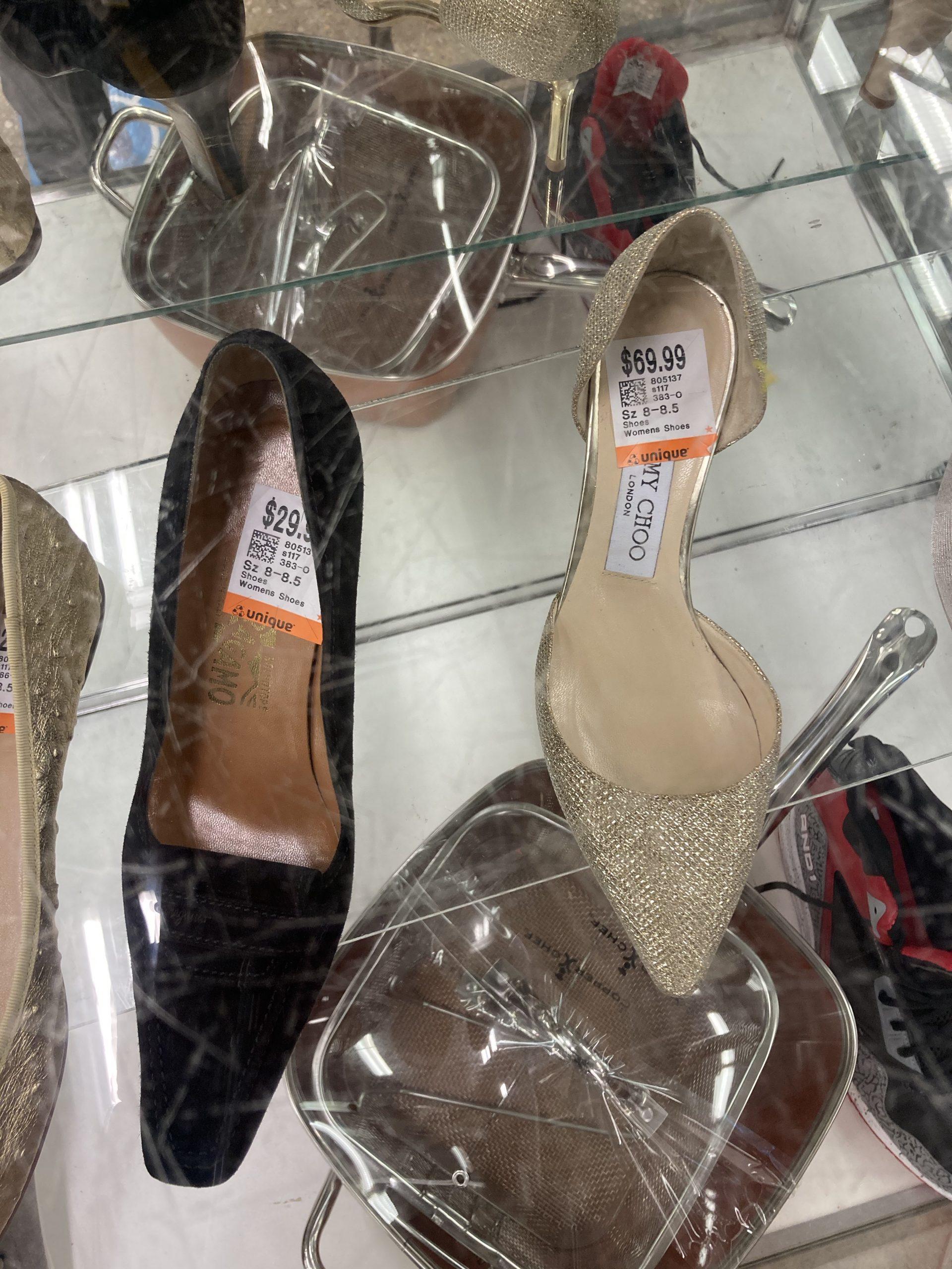 designer shoes at Unique Thrift