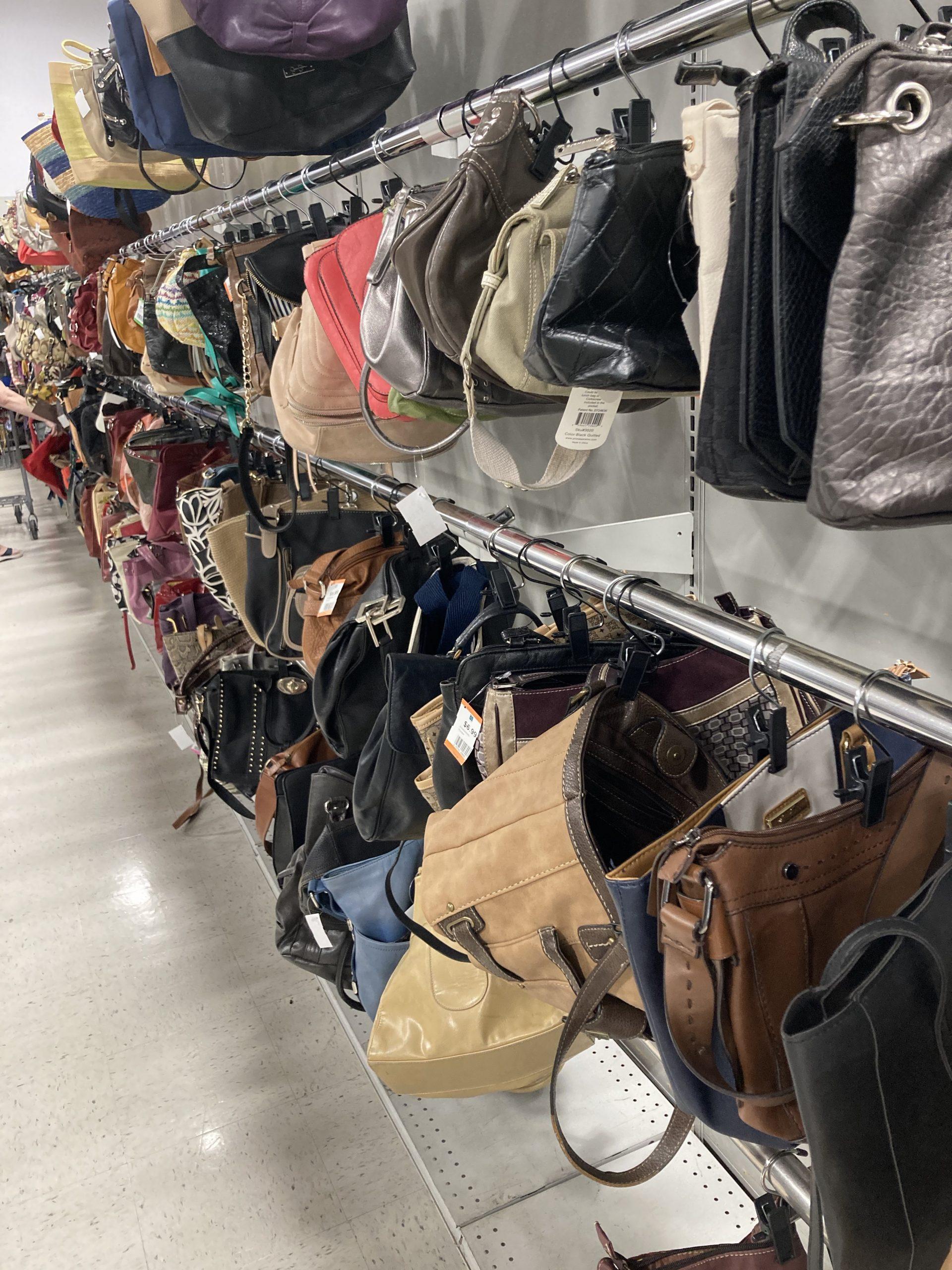 Value Village purse row